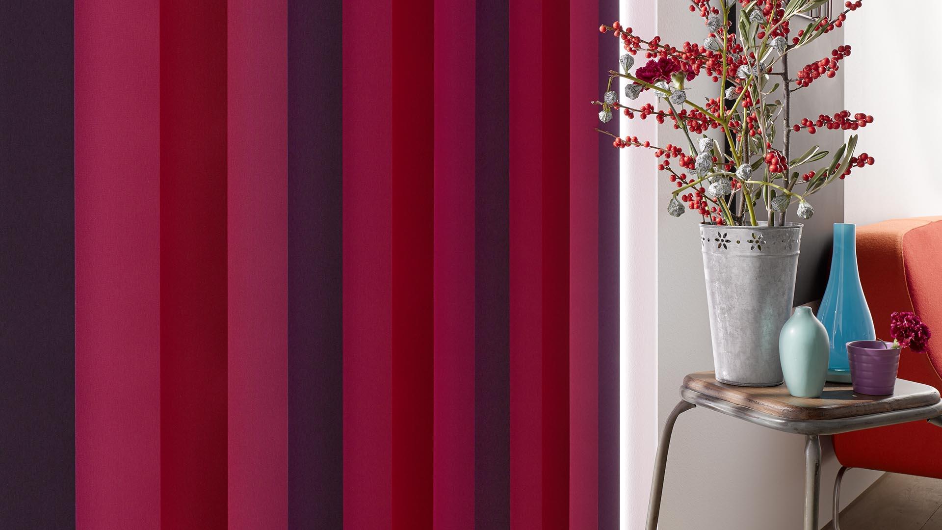 Große Farbauswahl und Kombination verschiedener Lamellen
