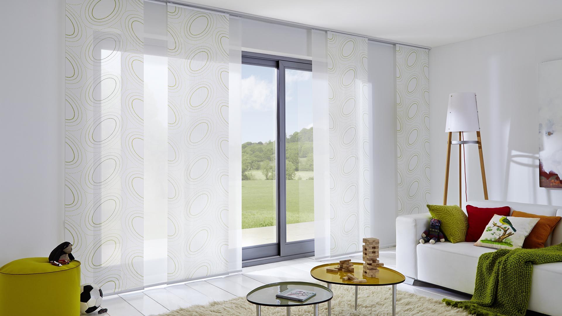 Für große Fensterfronten geeignet